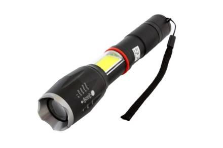 Φακός με LED Φωτισμό και Zoom σε Μαύρο χρώμα