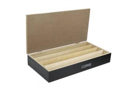 Ξύλινο Κουτί Αποθηκευσης για Κάψουλες Καφέ Espresso με 4 σειρές υποδοχών