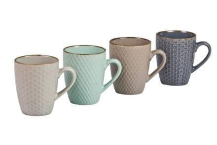 Σετ Κούπες 4 τεμαχίων σε 4 διαφορετικά παστέλ χρώματα χωρητικότητας 300ml - Aria Trade
