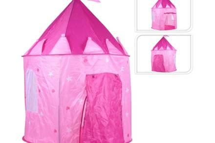 Play Tent Παιδική Σκηνή Κάστρο Πριγκίπισσας σε ροζ χρώμα