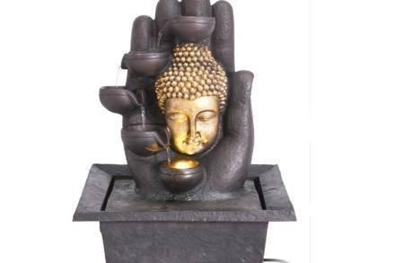 Διακοσμητικό Συντριβάνι με θέμα Βούδας και LED Φωτισμό