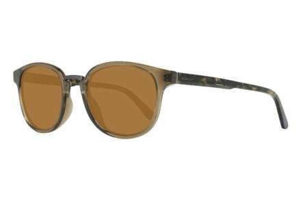 Gant Ανδρικά Γυαλιά Ηλίου με κοκκάλινο καφέ σκελετό και καφέ φακούς