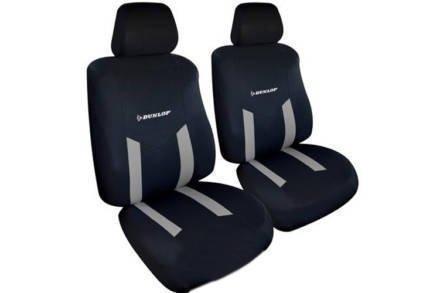 Dunlop Universal Καλύμματα Καθισμάτων Αυτοκινήτου σετ 6 τεμ σε Γκρι χρώμα