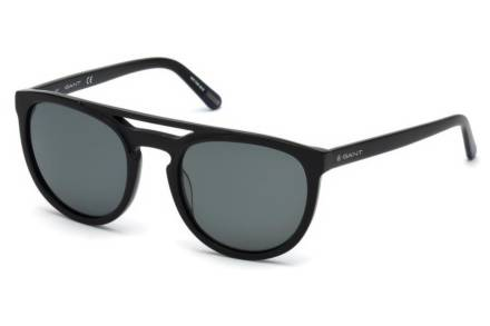 Gant Ανδρικά Γυαλιά Ηλίου με πλαστικό μαύρο σκελετό και γκρι φακούς