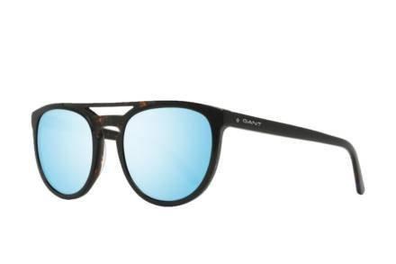 Gant Ανδρικά Γυαλιά Ηλίου με πλαστικό μαύρο σκελετό και μπλε φακούς