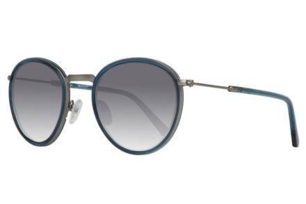 Gant Παιδικά Γυαλιά Ηλίου με κοκκάλινο σκελετό σε ασημί μπλε χρώμα και γκρι φακούς