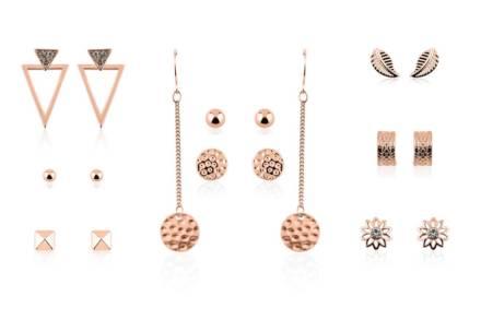 Pierre Cardin Σετ Κοσμημάτων 9 τεμαχίων με σκουλαρίκια σε χρώμα Rose Gold
