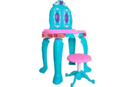 Παιδικό Παιχνίδι Τουαλέτα ομορφιάς με τηλεχειριστήριο και δυνατότητα σύνδεσης MP3 σε μπλε χρώμα
