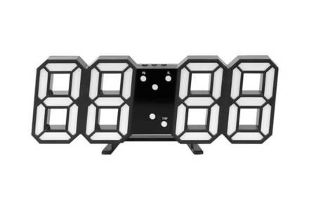 Ψηφιακό Ρολόι Τοίχου 3D 4 σε 1 με LED