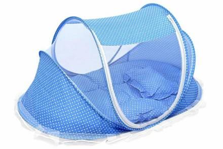 Βρεφικό Αναδιπλούμενο Παρκοκρέβατο σε μπλε χρώμα