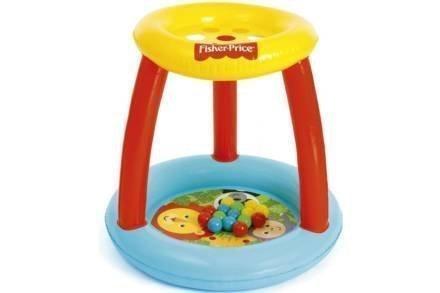 Bestway Fisher-Price Φουσκωτός Παιδότοπος με πολύχρωμες μπάλες