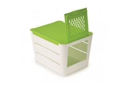 Δοχείο Αποθήκευσης με καπάκι για πατάτες και κρεμμύδια σε πράσινο χρώμα