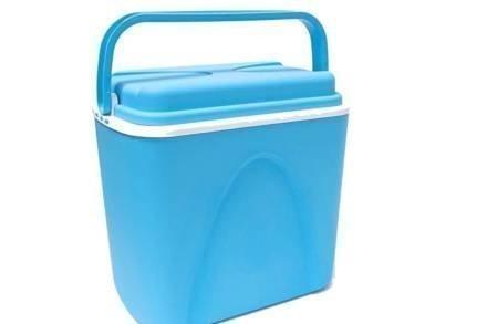 Φορητό Ψυγειάκι Cooler χωρητικότητας 24L με λαβή σε γαλάζιο χρώμα