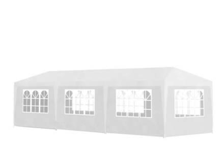 Gazebo Πτυσσόμενο Κιόσκι Τέντα Partytent που κλείνει από 4 πλευρές 3x9cm με Μεταλλικό σκελετό