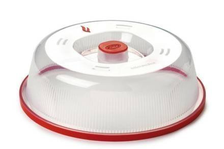 Πιάτο με Καπάκι κατάλληλο για Φούρνο Μικροκυμάτων σε Κόκκινο χρώμα