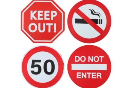 Μεταλλική Πινακίδα Σήμανσης σε 4 επιλογές