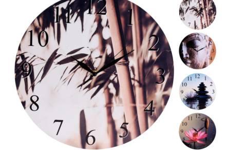 Αναλογικό Διακοσμητικό Ρολόι Τοίχου με διάμετρο 33cm Ξύλινο σε 4 διαφορετικά θέματα - Aria Trade