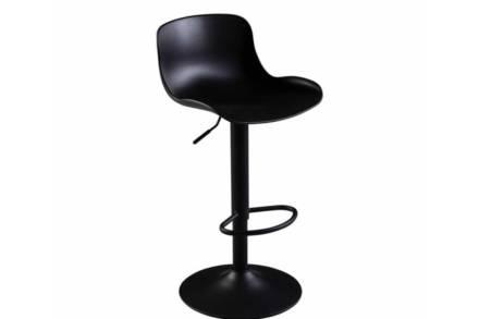 Σκαμπό Μπαρ με ρυθμιζόμενο ύψος σε μαύρο χρώμα
