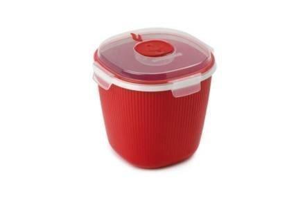 Σκεύος Παρασκευής Ποπ Κορν για φούρνο μικροκυμάτων σε Κόκκινο χρώμα
