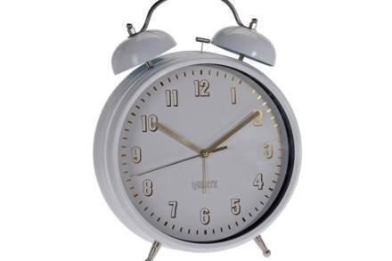Μεταλλικό vintage ρολόι ξυπνητήρι με διπλό καμπανάκι και φωτισμό