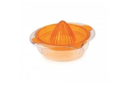 Χειροκίνητος Λεμονοστίφτης Πορτοκαλοστίφτης σε πορτοκαλί χρώμα