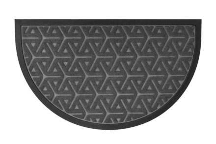 Πατάκι Χαλάκι εισόδου με γεωμετρικά σχέδια σε σκούρο γκρι χρώμα 45x75 cm