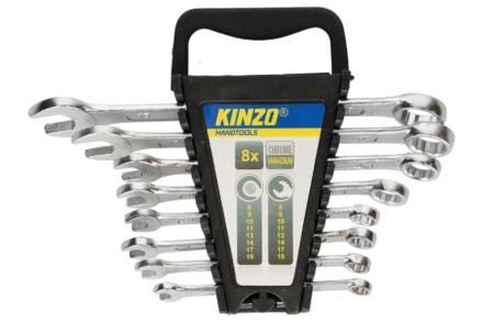 Kinzo Σετ Γερμανοπολύγωνα Κλειδιά 8 τεμαχίων 8-19CV με βάση
