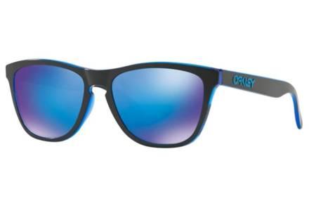 Oakley Ανδρικά Γυαλιά Ηλίου με κοκάλινο μαύρο σκελετό και μπλε φακούς