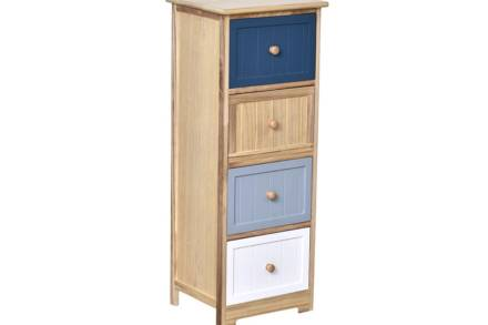 Ξύλινο Έπιπλο Συρταριέρα με 4 συρτάρια