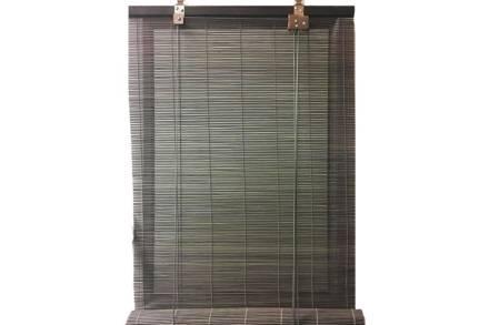 Στόρι Σκίασης Ρόλερ από ξύλο Bamboo σε γκρι χρώμα