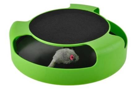 Παιχνίδι Κίνησης για Γάτες Catch the mouse σε πράσινο χρώμα
