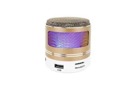 Φορητό Ασύρματο Ηχείο Bluetooth MP3 FM 3W σε χρυσό χρώμα