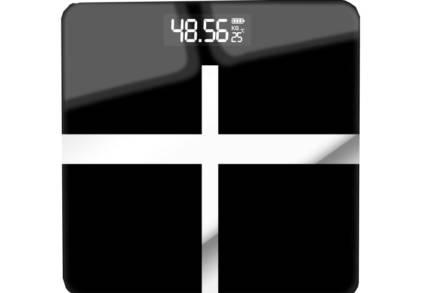 Ψηφιακή Ζυγαριά Μπάνιου από Γυαλί έως 180kg σε μαύρο χρώμα