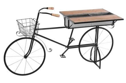 Φορητό Πτυσσόμενο Stand Bar σε σχήμα ποδηλάτου σε μαύρο χρώμα