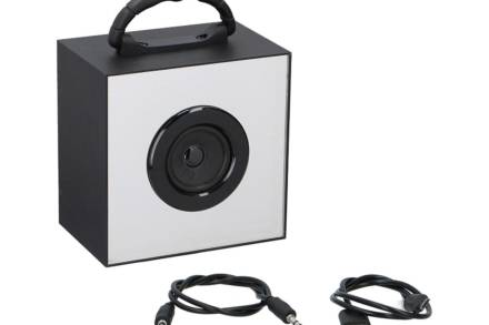 Dunlop Επαναφορτιζόμενο Ασύρματο Ηχείο Bluetooth 3W με LED και λαβή μεταφοράς