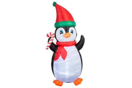 Διακοσμητικός Φουσκωτός Χριστουγεννιάτικος Πιγκουίνος ύψους 210 cm