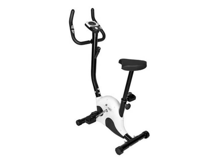 Στατικό Ποδήλατο Γυμναστικής με ψηφιακή οθόνη σε λευκό χρώμα