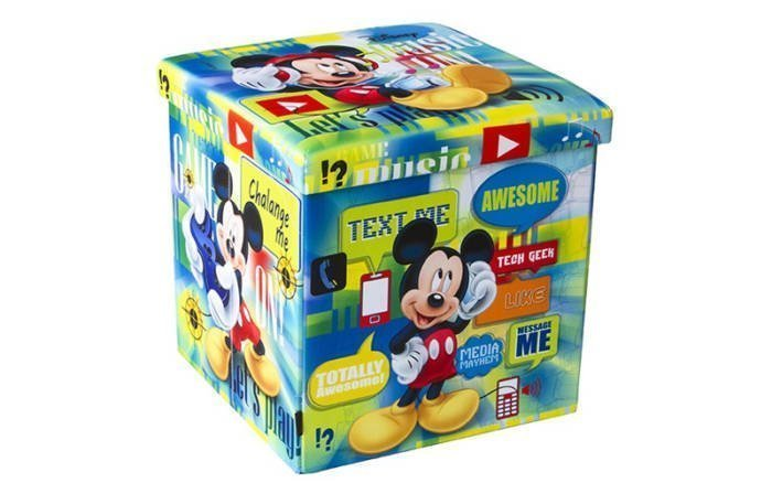 Παιδικό Σκαμπό Πτυσσόμενο με Αποθηκευτικό Χώρο με θέμα Mickey Mouse της DISNEY 38x38x38cm