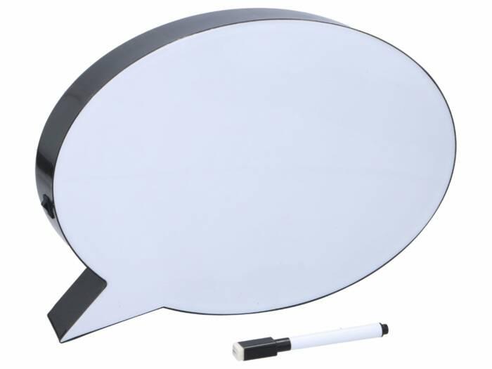 Πίνακας LED Lightbox σε σχήμα συννεφάκι σκέψης Speech Bubble Διακοσμητικός Φωτιζόμενος A5 με 5LED και μαρκαδόρο