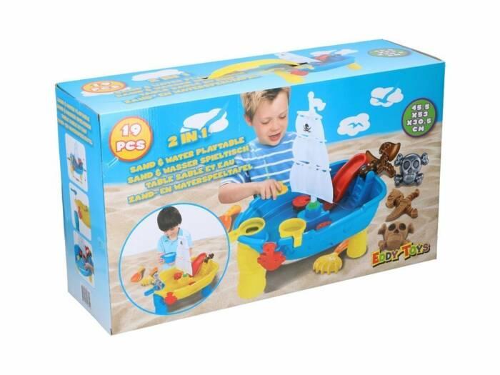 Παιδικό Τραπέζι 2 σε 1 για Άμμο και Νερό 19 τεμαχίων για ατελείωτες ώρες Παιχνιδιού