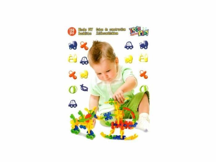 Σετ Πλαστικά Τουβλάκια 156 τεμαχίων για ατέλειωτες ώρες Παιχνιδιού και Δημιουργίας κατάλληλο για Παιδιά άνω των 3 ετών
