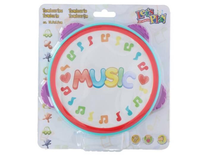 Let's Play Παιδικό Μουσικό Όργανο Ταμπουρίνο Ντέφι