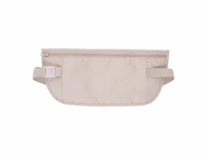 Τσάντα Ταξιδίου για την μέση με Φερμουάρ και Ελαστική ζώνη 66cm σε Μπεζ χρώμα