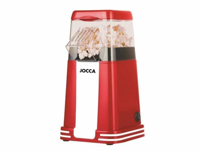 Συσκευή Παρασκευής Πόπ Κόρν 1200W Pop Corn Maker Retro σε Κόκκινο χρώμα