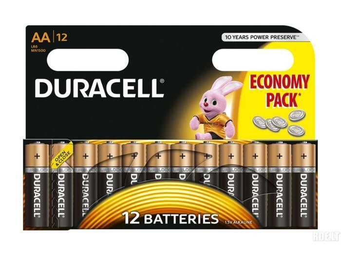 Duracell Σετ αλκαλικές μπαταρίες 12 τεμαχίων AA/R06 - Duracell