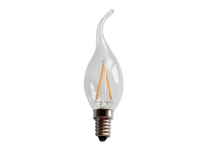 Λάμπα τύπου Κερί LED C35T 2W Υποδοχής E14 220lm Λευκού Φωτισμού 220-240V