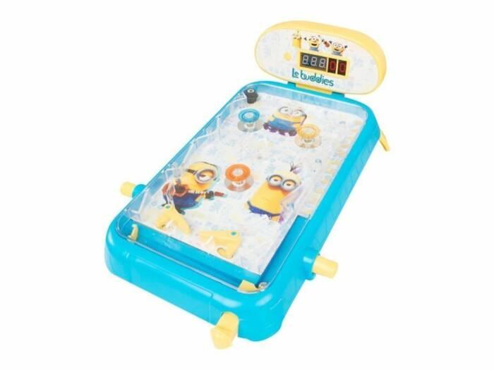 Επιτραπέζιο Φλιπεράκι Minions 31.5x22.5x14cm με Φωτάκια και Ήχο με Θέμα σε Γαλάζιο χρώμα με Κίτρινες Λεπτομέρειες για ηλικίες 4 ετών και άνω