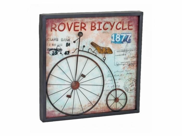 Vintage Διακοσμητική Μεταλλική Πινακίδα με Απεικόνιση Ποδηλάτου