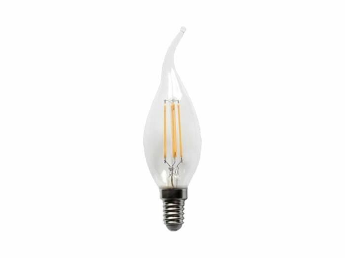 Λάμπα τύπου Κερί LED C35T 4W Υποδοχής E14 480lm Λευκού Φωτισμού 220-240V