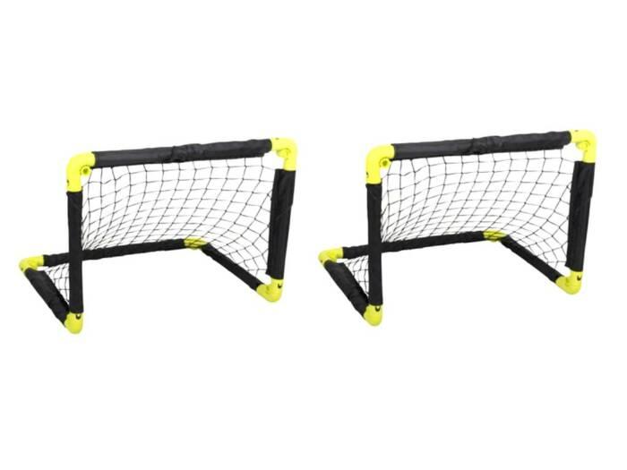 Σετ Πτυσσόμενο Τέρμα Ποδοσφαίρου 2 τεμαχίων σε Μαύρο Κίτρινο χρώμα